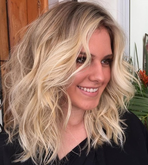 Messy, Shaggy Hairstyles for Shoulder Length Hair