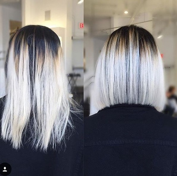 Ombre Hairstyle - Blunt Medium Haircuts