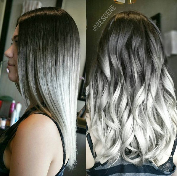 Smoked Out Silver Ombre