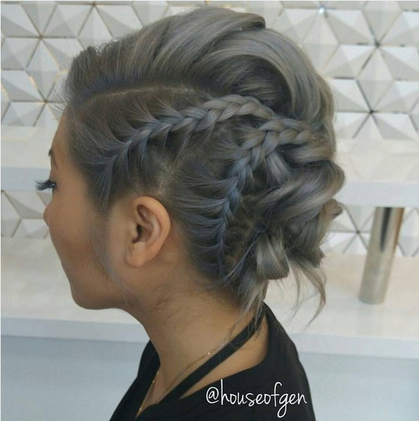 Magnificent 27 Super Trendy Updo Ideas For Medium Length Hair Popular Haircuts Hairstyles For Men Maxibearus
