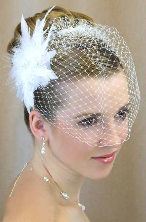 Wedding Hairstyle with Veil - Bride Short Hairstyle Ideas
