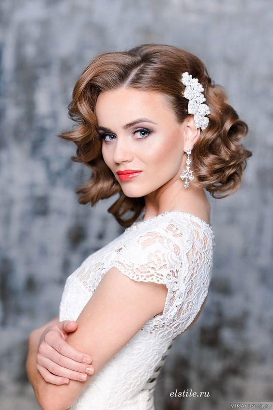 Hairstyles For Wedding 23 Perfect Short Hairstyles For Weddings Bride Hairstyle Designs