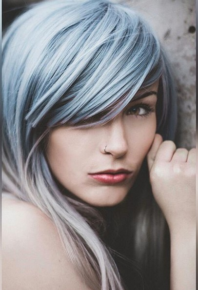 Beautiful! Blue Ombré Hairstyle