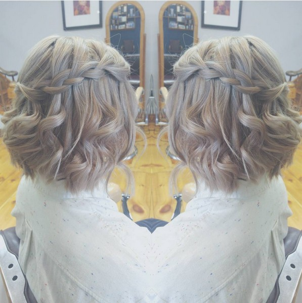 Beautiful Waterfall Braid Hairstyles for Short Curly Hair