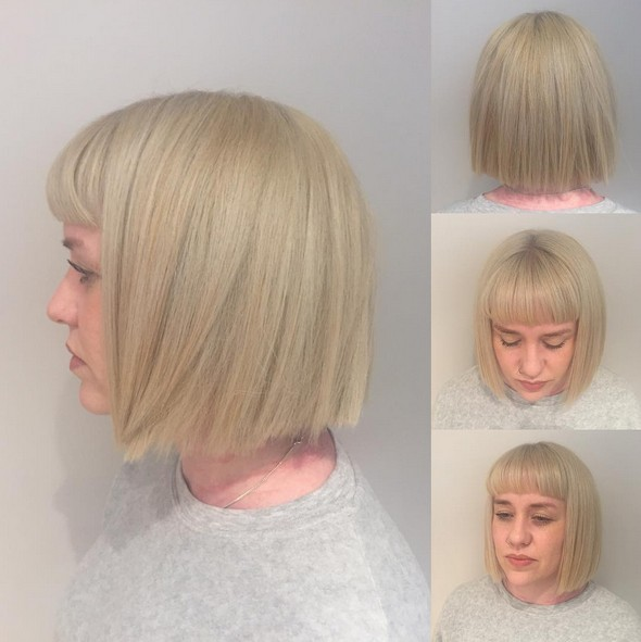 Blunt Haircut with Bangs - Short Hairstyles for Thick Hair