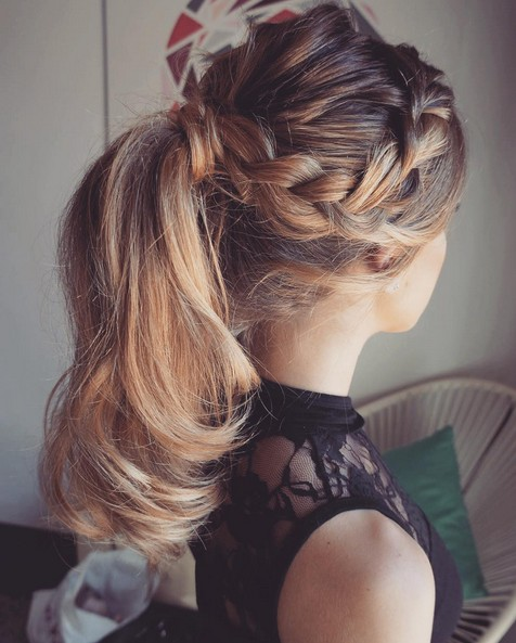Breaided Ponytail Hairstyles for Summer