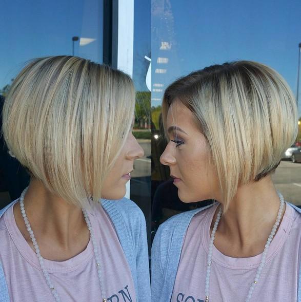 Dark Ash Blonde, Balayage Hairstyle with Short Hair