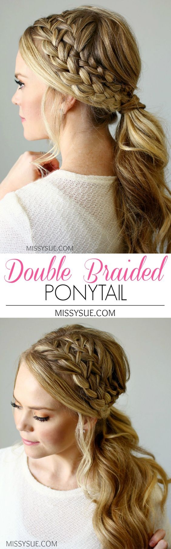 18 Cute Braided Ponytail Styles