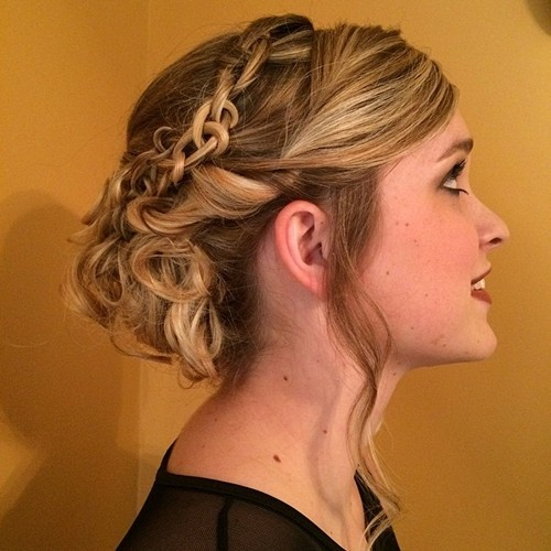 Fancy Messy Updo with Braids