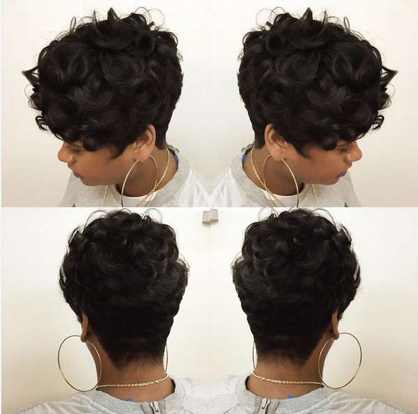 Gorgeous Wavy& Curly Pixie Haircut - Short Hairstyles for Black Women