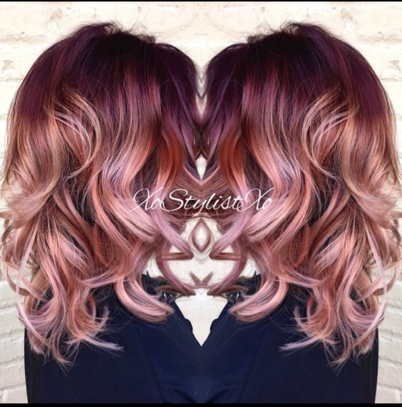 Hair Color Ideas - Medium, Layered Curly Hairstyle