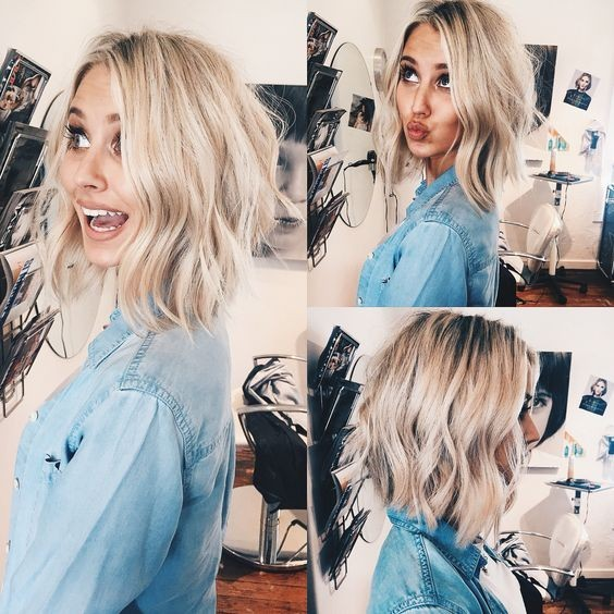 Layered, Wavy Lob - Julianne Hough Short Hairstyles