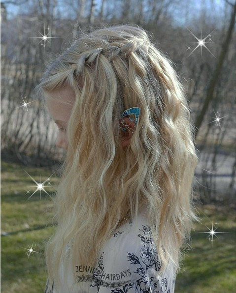 20 Easy Lovely Waterfall Braid Styles For Short Medium