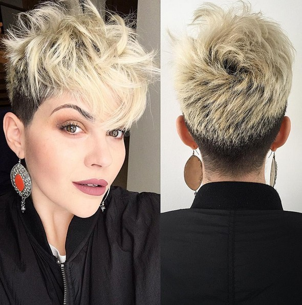 short haircut for thick hair 22 best hairstyles for thick hair sleek frizz free 1255 | Messy Pixie Haircut with Thick Hair Short Hairstyle for Heart Face Shape