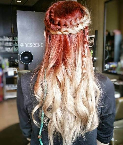 Ombre Long Hair with Braids