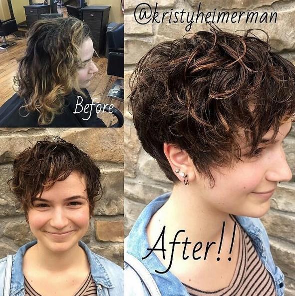 Pixie Haircut with Bangs