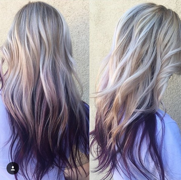 Hairstyles Purple : ... Purple Highlights also Purple Plum Hair Color Balayage and Purple