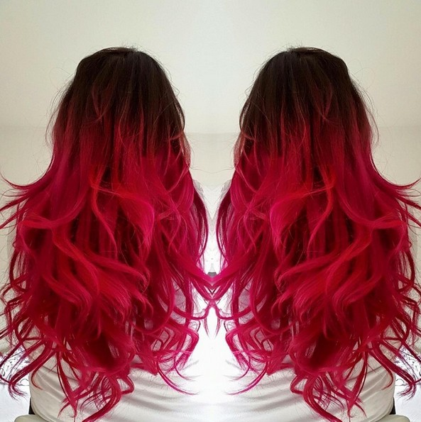 18 striking red ombre hair ideas popular haircuts. Black Bedroom Furniture Sets. Home Design Ideas