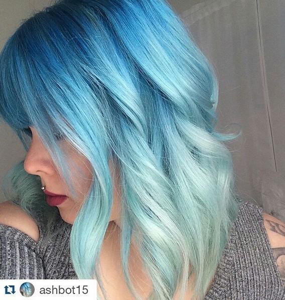 18 schöne blaue Ombre Farben und Stile