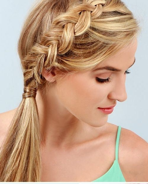 side hair braid styles 18 braided ponytail styles crazyforus 5627