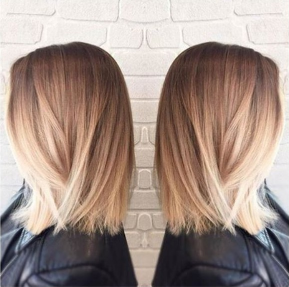 Straight long bobs - Straight Lob Haircut