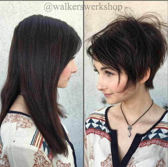 Stylish Short Pixie Haircut for Girls