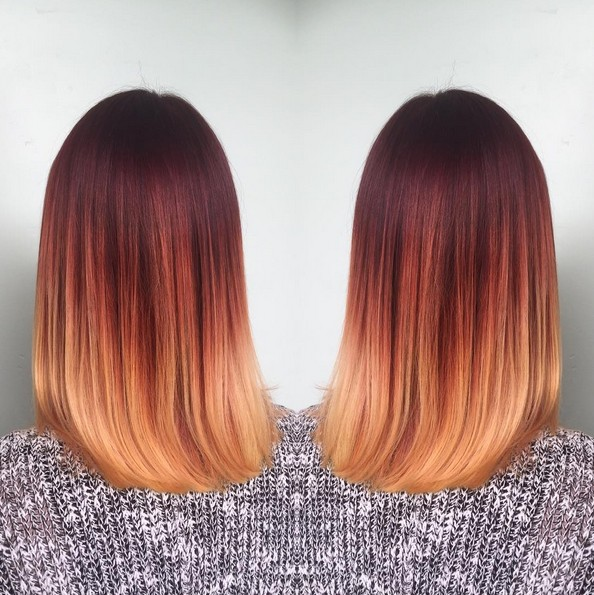 Stilvolle Shouder Length Frisur - Ombre Haar
