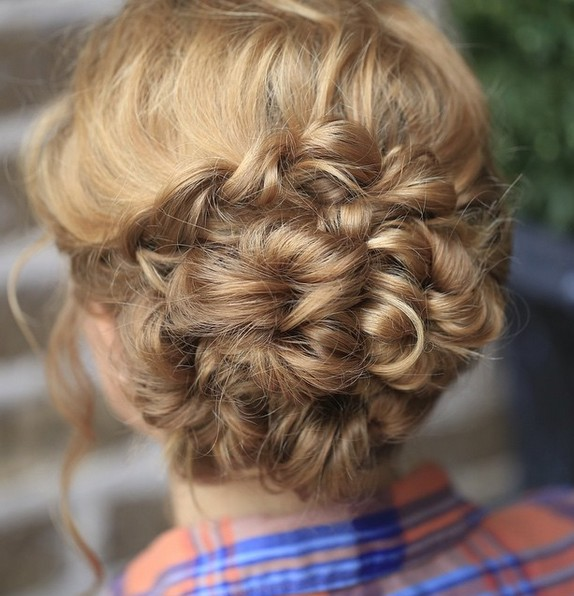 Updo Hairstyle for Medium, Long Hair - Stylish Homecoming Hairstyle Ideas