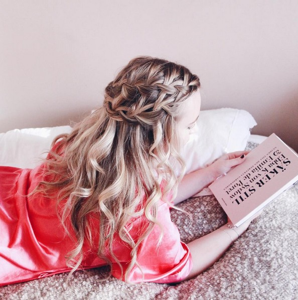 Waterfall Braid - Homecoming Hairstyle Ideas for Long Hair