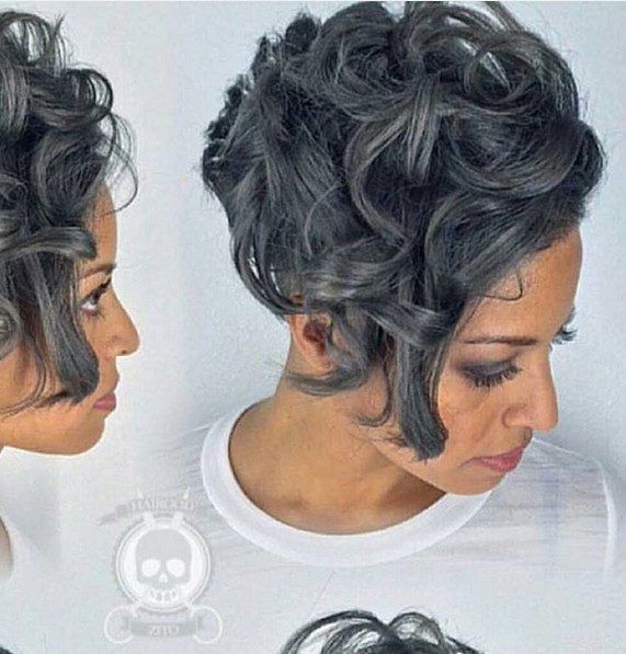 Wavy Pixie Haircut for Black Women - Short Hairstyles for Long Face Shape