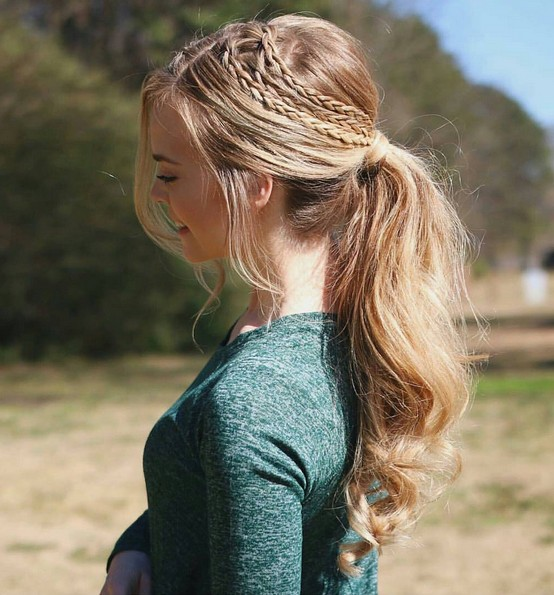 18 Cute Braided Ponytail Styles