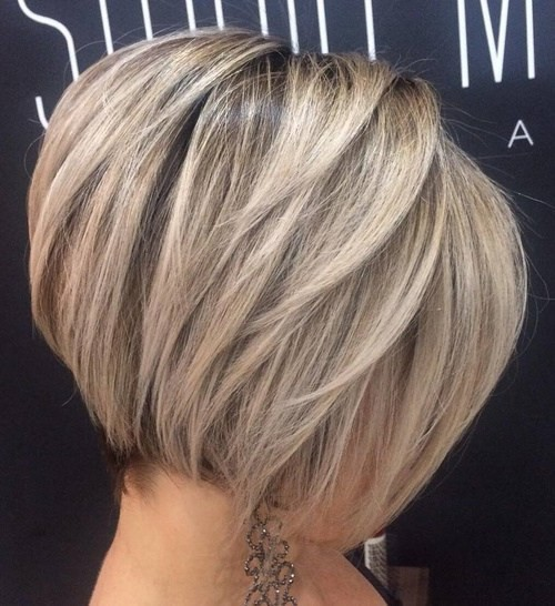 Balayage, Straight Short Bob Haircut - Easy Office Hairstyle
