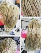 Blonde Braids with Ponytail