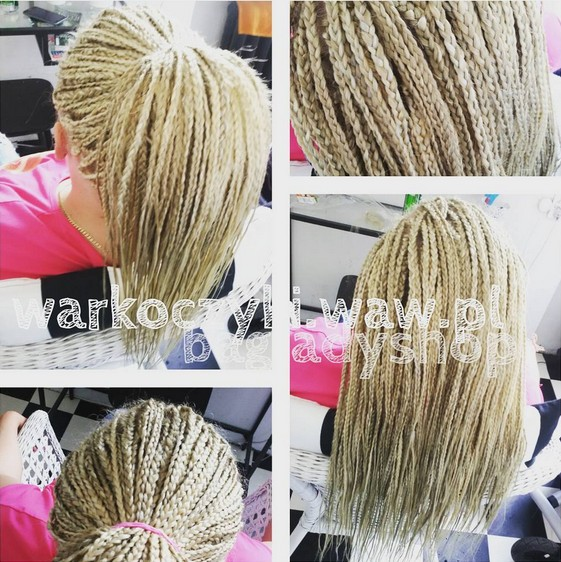 Blonde Braids with Ponytail