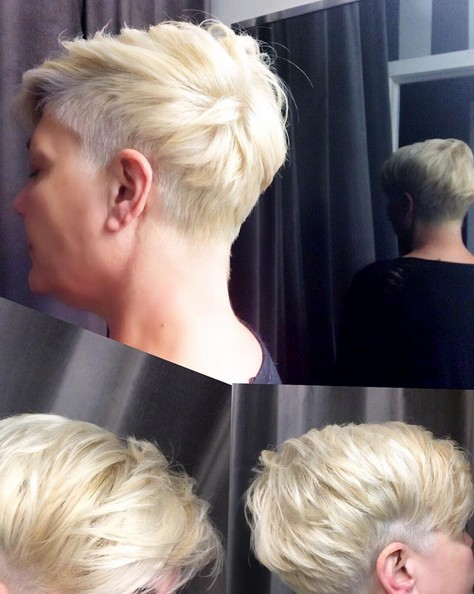 Blonde Short Hairstyle - Pixie Haircut for Women Fine Hair