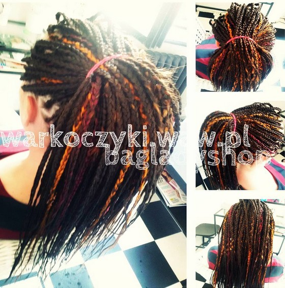 Brown Box Braids