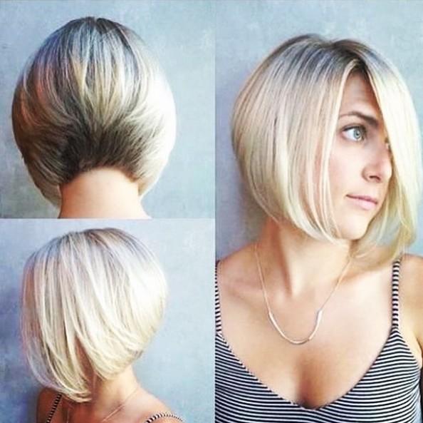 Classic A-line Bob Haircut - Straight Short Hairstyles