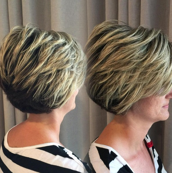Classic Layered Bob Haircut - Thick Hairstyles for Women Short Hair