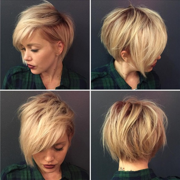 Messy Blonde Pixie Hairstyle Best Short Haircuts