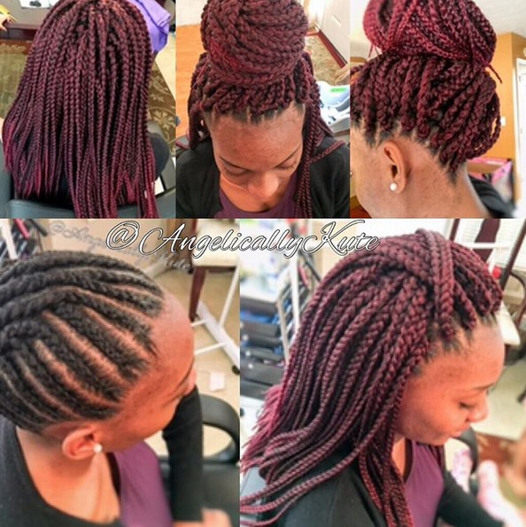 Neat and Flat Crochet Box Braids - African American Hairstyle for Women