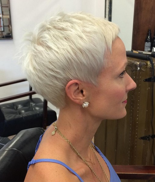 Perfect Platinum Pixie Hairstyles for Thick Hair - Women Short Haircut for Summer