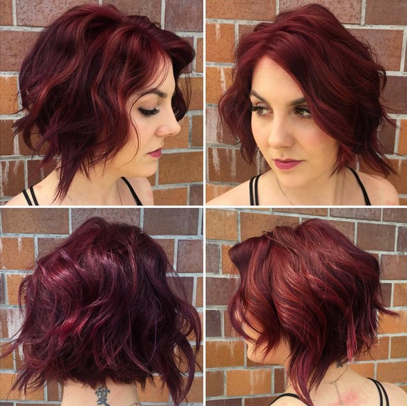 hair styles for with wavy hair 18 ways to curl your bob popular haircuts 7007