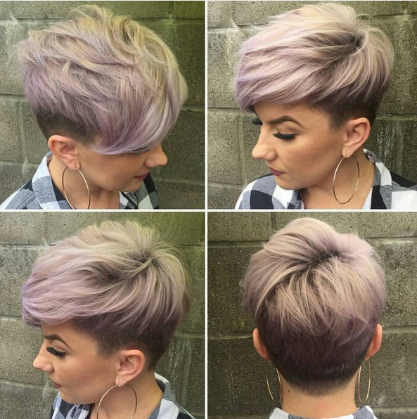 Textured Pixie Haircuts with Fine Hair - Undercut for Short Hair
