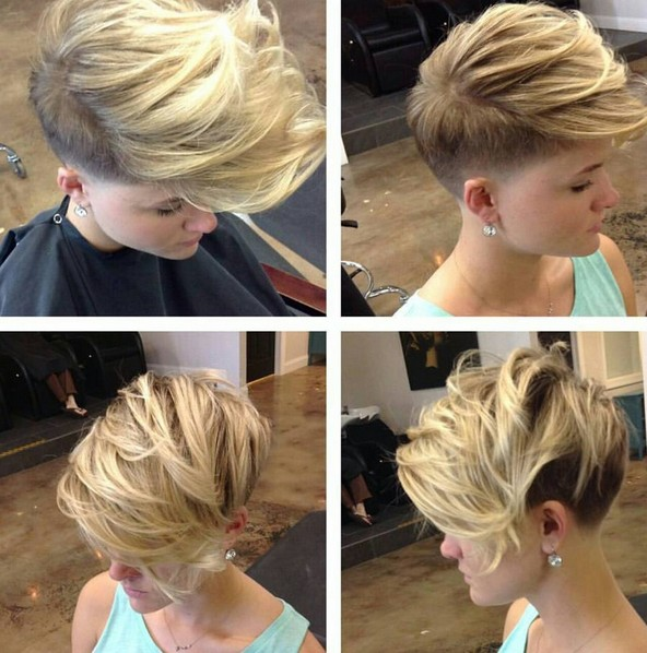 Textured, Shaved Short Haircut - Messy Hairstyles for Short Fine Hair