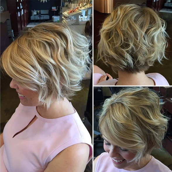 short textured haircuts for women 28 ways to curl your bob crazyforus 2946 | Textured bobs for summer Short haircuts for women
