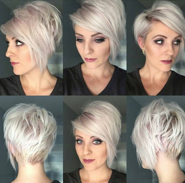 Trendy Short Haircut Ideas - 2016 Short Hair Style, Pink and Light Blonde