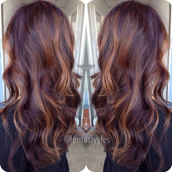 10 Mahogany Hair Color Ideas Ombre Balayage Hairstyles 2018