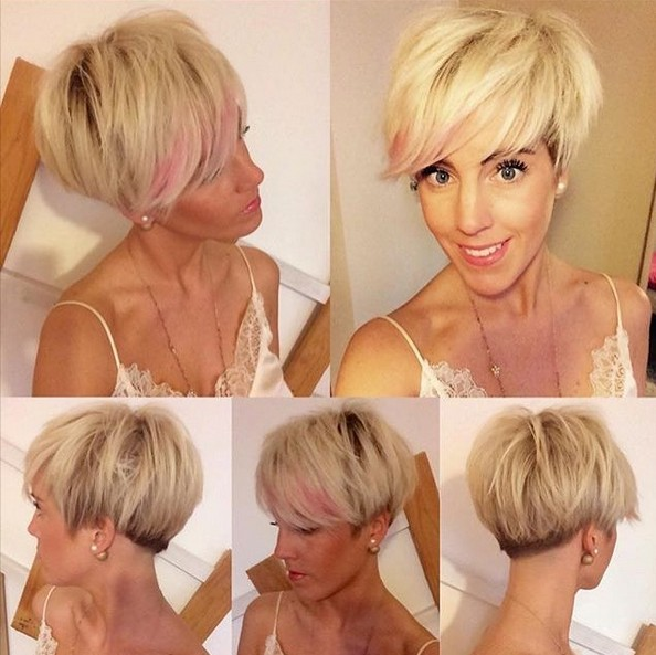 Blonde, Long Pixie Haircuts