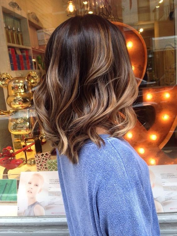 Brown, Caramel Balayage Highlights , Perfect Bayalage Hair Styles