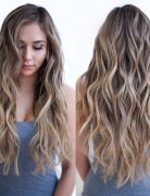 Cute, Layered Long Wavy Hairstyles - Balayage Highlights